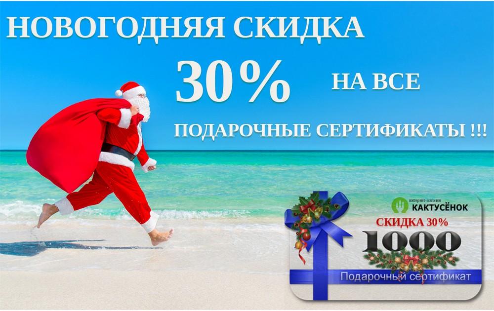 Скидка 30% на все подарочные сертификаты